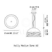 Kelly medium dome Studio Italia Design-dimensioni