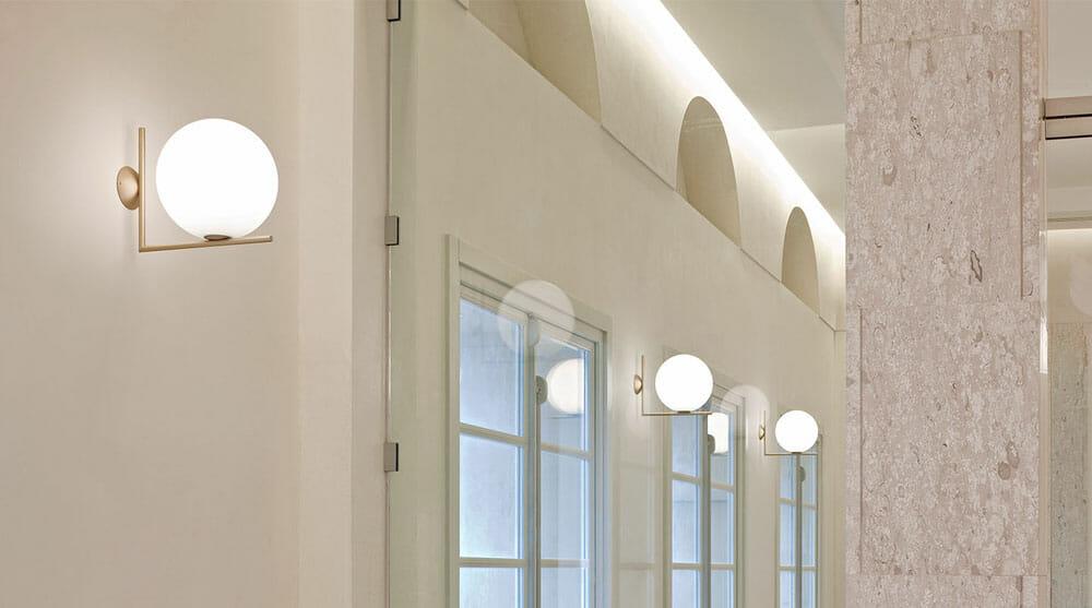 Plafoniere Flos : Ic lights c w1 lampada da parete e soffitto flos la luce