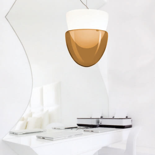 Phoenix Suspension White / Amber La Murrina - Outlet - La Luce