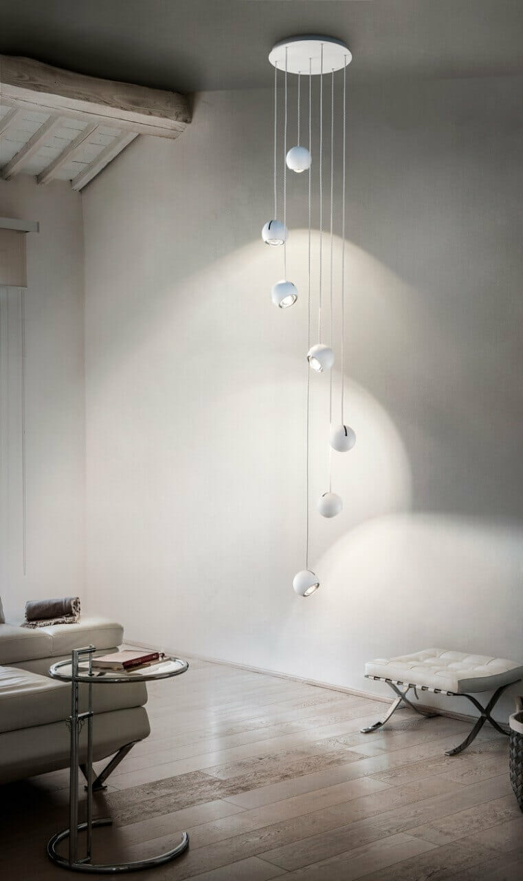 Spider 5 lights suspension studio italia design designed for Suspension design