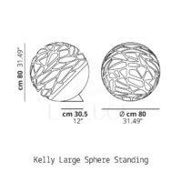 Kelly Large Sphere terra Studio Italia Design-Dimensioni