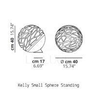 Kelly Small Sphere terra Studio Italia Design-Dimensioni