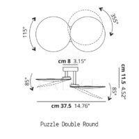 Puzzle Double Round Dimensioni