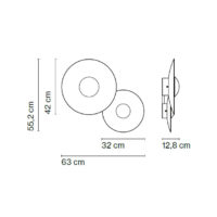 Ginger C2-plafone-Marset-Dimensioni