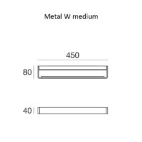 Metal W_medium_dimensioni
