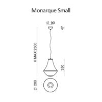 Monarque_small_LineaLight_dimensioni