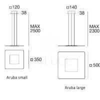 Aruba sospensione_LineaLight_dimensioni